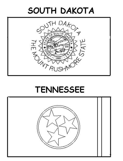 outline of tn coloring pages