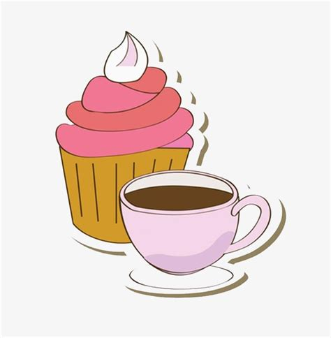 tea clip afternoon tea cake coffee png image and clipart for