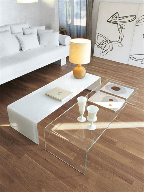 Table Basse Gigogne Verre Transparent