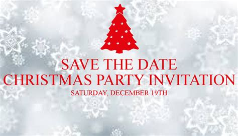 save the date christmas party invitation saturday