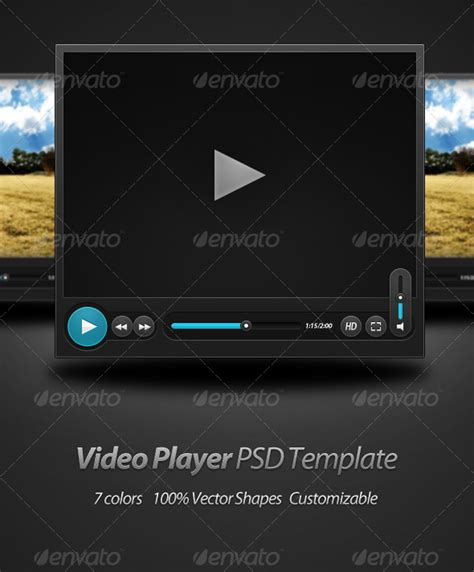 Video Player Psd Template Graphicriver Flash Player Website Templates