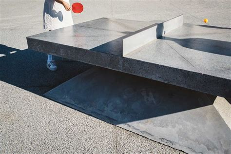 concrete ping pong table concrete ping pong tables by murray barker laith mcgregor