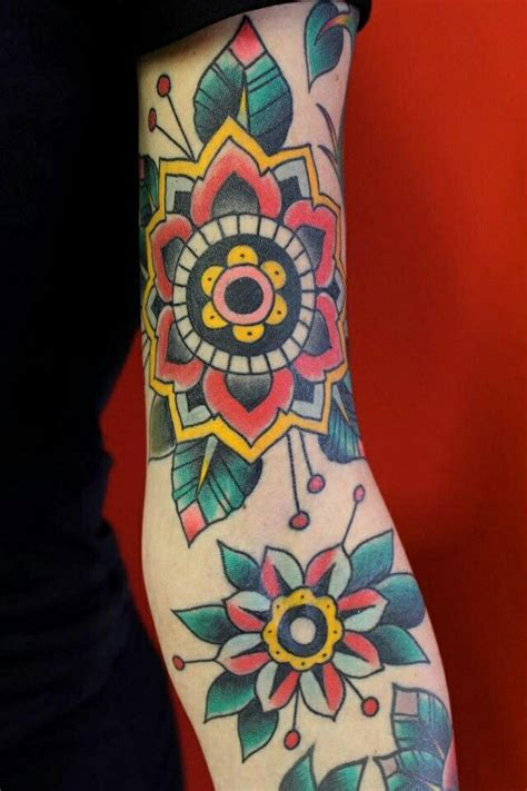 american traditional flower tattoo the school designs design ideas