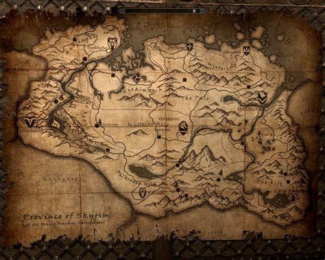 map of skyrim skyrim map wallpapers wallpaper cave