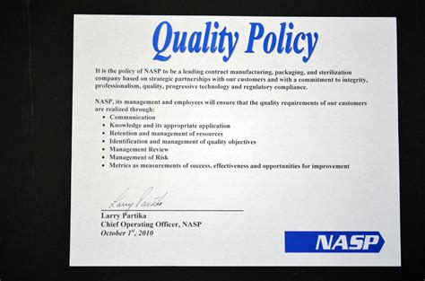 quality policy template best photos of quality policy template quality policy