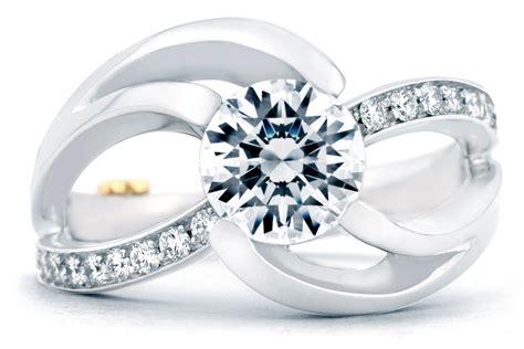 schneider kismet contemporary engagement ring