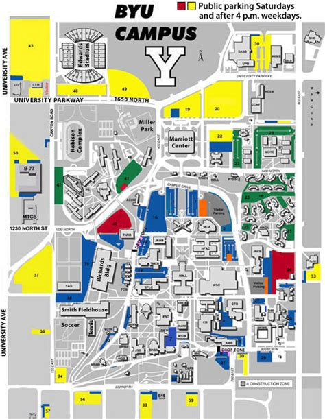 byu map map of byu parking my