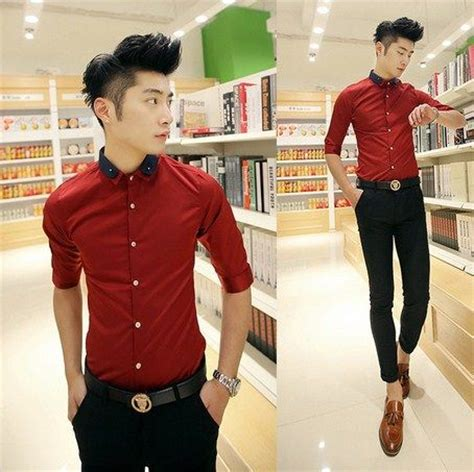 Kemeja Nathan trendy 2014 unique collar fashion shirt asian