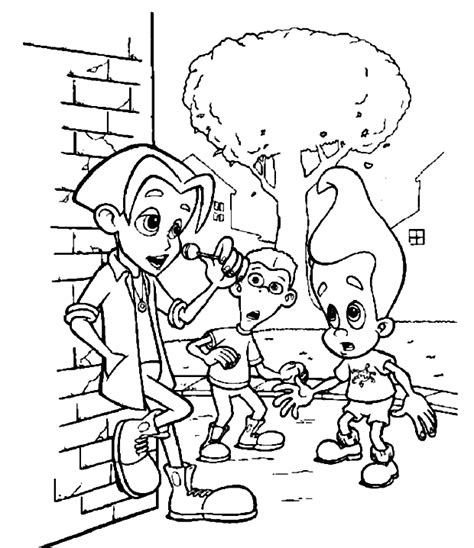 coloring page jimmy neutron coloring pages 11