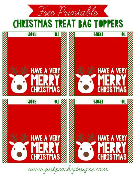 free printable christmas gift bag tags just peachy designs free christmas treat bag toppers