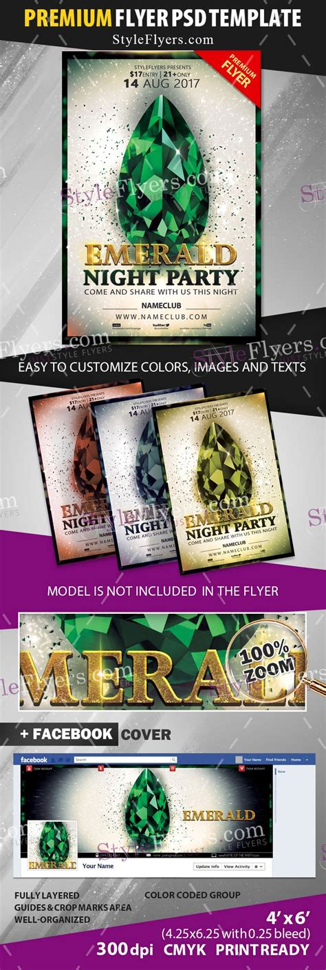 emerald flyer template emerald psd flyer template 10958 styleflyers