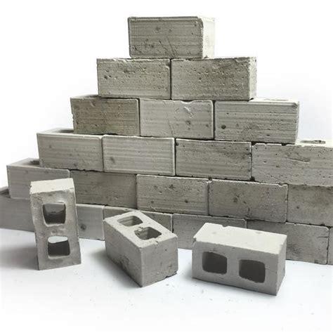 Mini Block 1 1 12 scale mini cinder blocks 50pk mini materials