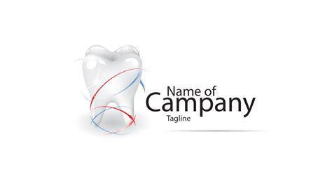 dental logo template  vector  transparent png