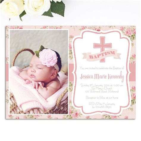 baptism photo card template christening invitation card sle christening