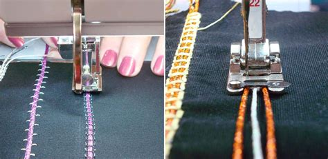 Creative Couching Foot by How To Kreinik Metallic And Real Metal Threads In