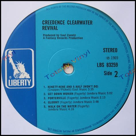 Clearwater Records Totally Vinyl Records Creedence Clearwater Revival Creedence Clearwater Revival Lp