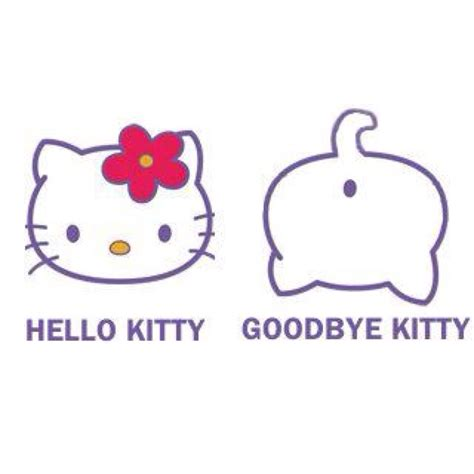 Hello Kitty Meme - hello kitty good bye kitty meme funny pinterest