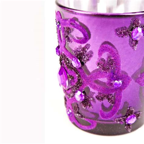 purple tealight candle holder decorations and supplies uk cheap decorations and