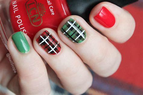 nail art tartan tutorial plaid nail art tutorial