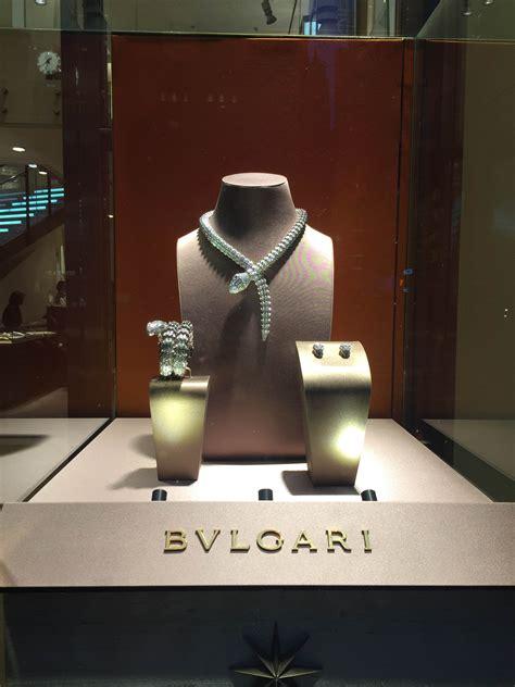 bvlgaris window displays  york february