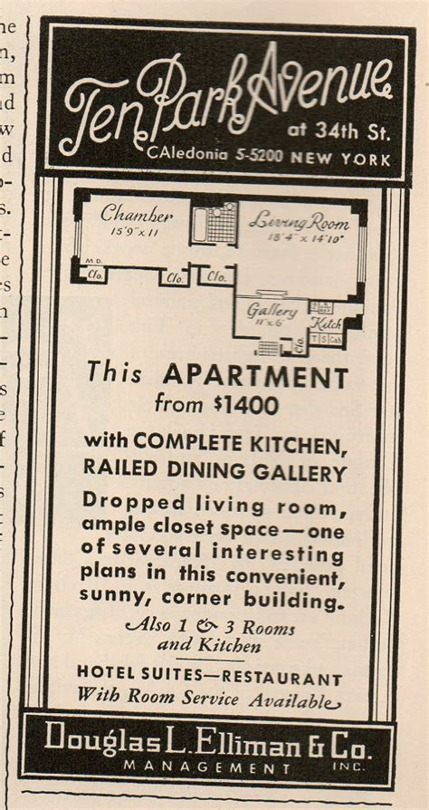 Apartment Ads In Swanky Apartment Ads From The 1930s Ephemeral New York