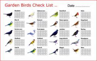 garden bird s check list bird list with pictures