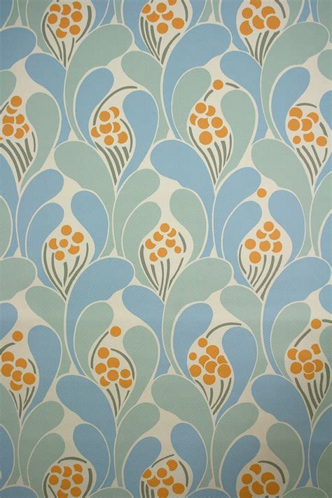 retro blue wallpaper uk vintage funky wallpaper with blue geometric pattern 1970s