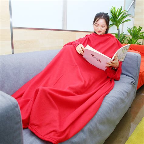 sofa blanket with sleeves warm home bed tv sofa coral fleece throw snuggie cuddle