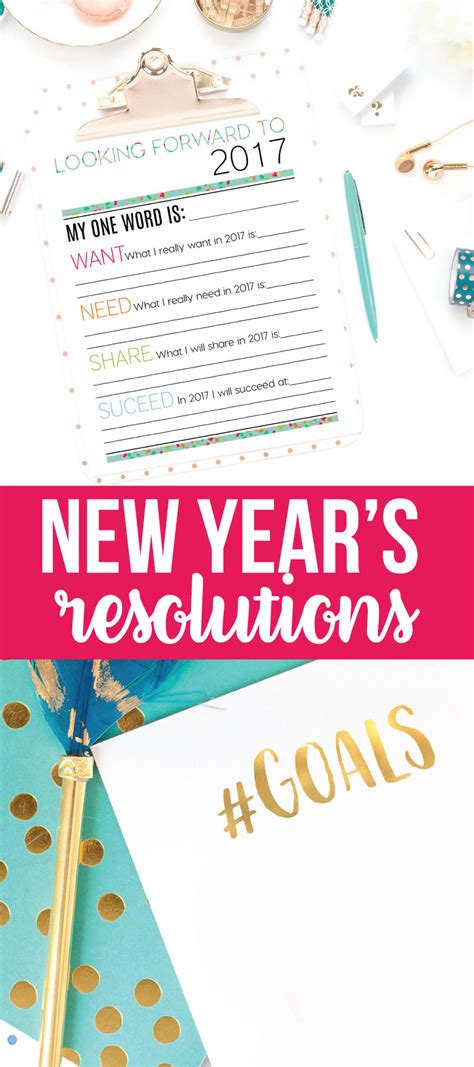 printable new year s resolutions and goals