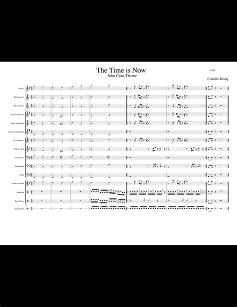 The Time is Now (John Cena Theme) sheet music for Flute