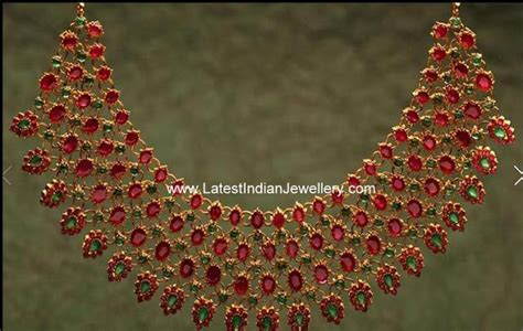 Vm Pin Dasi Jepitan Dasi Silver attractive heavy indian ruby necklace in mesh style design