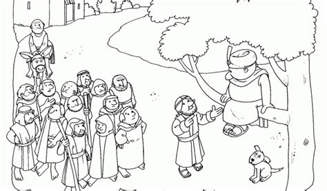 jesus and zacchaeus coloring page free coloring jesus and