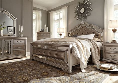 birlanny silver upholstered panel bedroom set b720 57 54 birlanny silver king upholstered panel bed b720 58 56 97