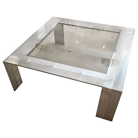 Brushed Steel Table L by Table Made Of Brushed Steel And Nickel By Elaine Cohen For
