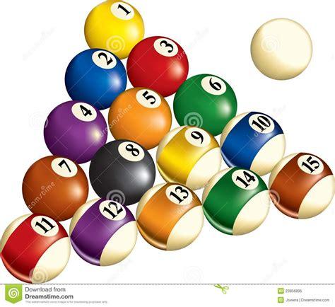 How To Set Up A Pool Table - bolas de billar ilustraci 243 n del vector imagen de juego 23856895
