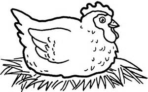 colouring pages hen coloring pages