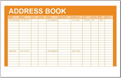 address book template word free salary slip template name salary statement format in