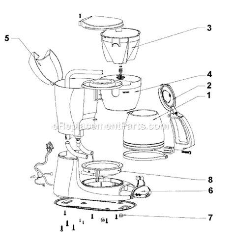 mr coffee parts diagram mr coffee esx11 parts list and diagram