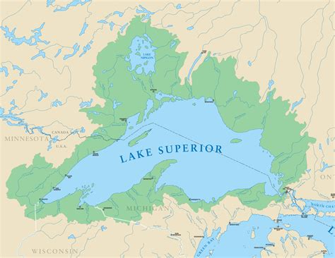 lake map lake superior michigan sea grant