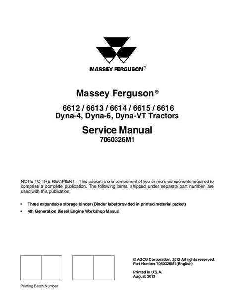 Oakley 6612 M agco technical publications massey ferguson tractors