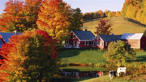Fall Farmhouse Wallpaper Farm Hd Wallpaper And Background Image 1920x1080