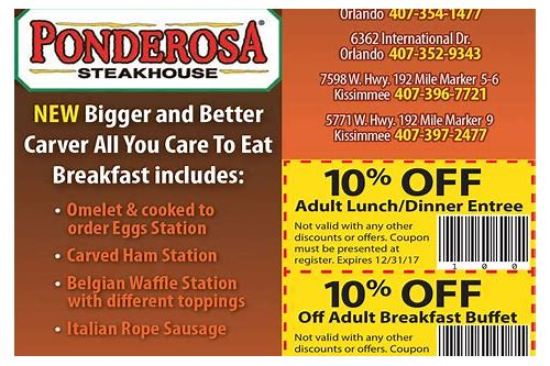 ponderosa coupons october 2018