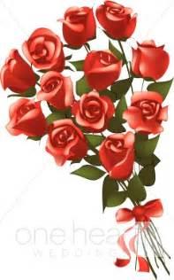 Purple Wedding Programs Dozen Roses Clip Art Flower Bouquet Clipart