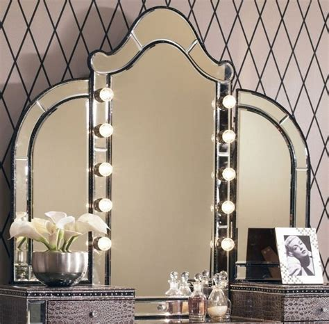 vanity table with lights vanity table with tri fold mirror bedroom furniture ideas deavita