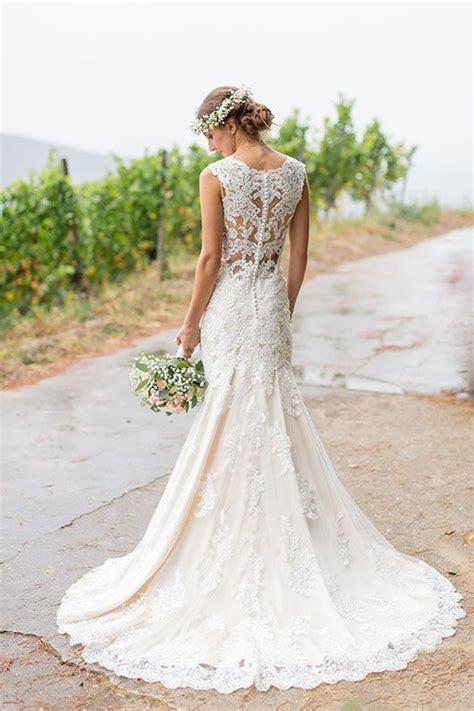 Brautkleider Aus Spitze by Best 20 Hochzeitskleider Mit Spitze Ideas On