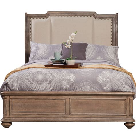 Sleigh Bed Headboards by Melbourne Sleigh Bed With Upholstered Headboard Truffle Midcentury Sleigh
