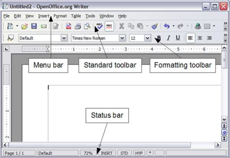layout view differences in use between writer and word apache