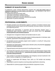 Office Resume Sles by Executive Assistant Sle Resume Resume Sle Format