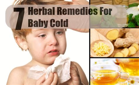 baby cold herbal remedies treatments and cure