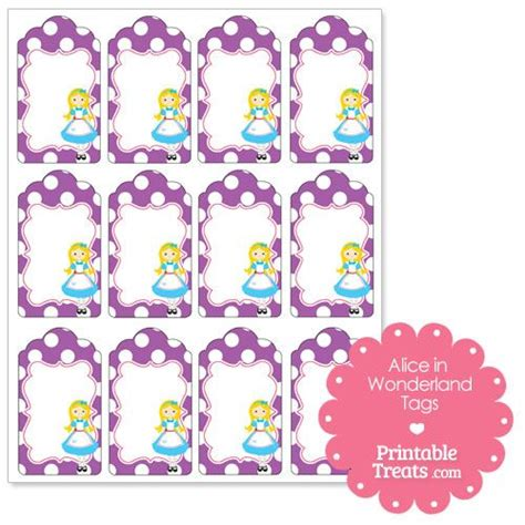 alice in wonderland tags template free printable in tags from